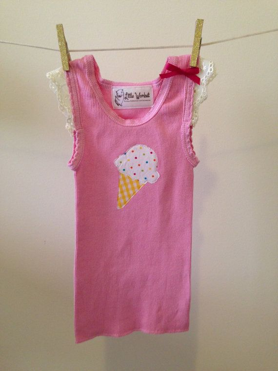 34 best baby singlets images on pinterest baby sewing sewing pink singlet with icecream applique lace capped sleeves and fushia bow size 00 gentle baby girls clotheschildren clotheshandmade negle Images