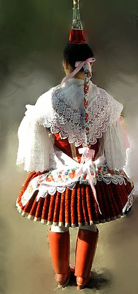 Traditional clothes in Bíňa, Slovakia