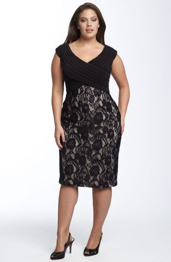 Free shipping and returns on Adrianna Papell Matte Jersey & Lace Sheath Dress (Plus) at Nordstrom.com. Ultra-flattering sheath dress is fashioned with pleated jersey panels crisscrossed above a slim, stretch-lace skirt.