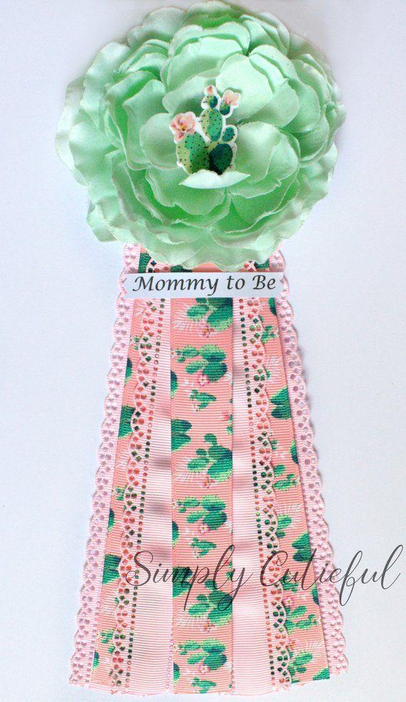 Kaktus Sukkulenten Baby Shower Corsage, Mama Oma zu sein Kaktus Baby Shower Pins und Corsagen, Kaktus Pin   – My Cute Etsy Shop!