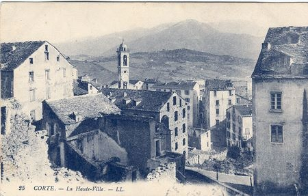 La haute ville de Corté Nouvelles cartes de Corse