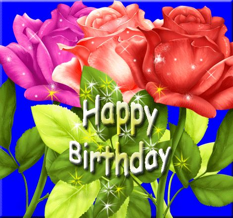 Virtual Birthday Sparkling Roses 4 Birthday Birthday