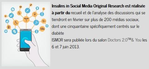 ISMOR, 1ère étude diabète & réseaux sociaux présenté Claire Maurice de LexisNexis BIS à doctors 2.0 /2013