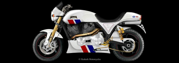 2014 Hesketh 24 V1200  The first new model from Hesketh Motorcycles in the 21st century will be the Hesketh 24. Taking inspiration from Hesketh's illustrious Formula 1 roots, the Hesketh 24 uses James Hunt's F1 Grand Prix winning '24' car as the basis of the bikes' styling.  However, underneath the red, white and blue is a completely modern interpretation of a Hesketh machine with a massive 1950 cc  56 degree V-twin engine putting out around 120 bhp. The Hesketh 24 features top quality…