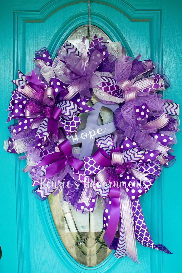 Hope Wreath-Relay for Life by Kenzie's Adoornments Find on FB & Etsy