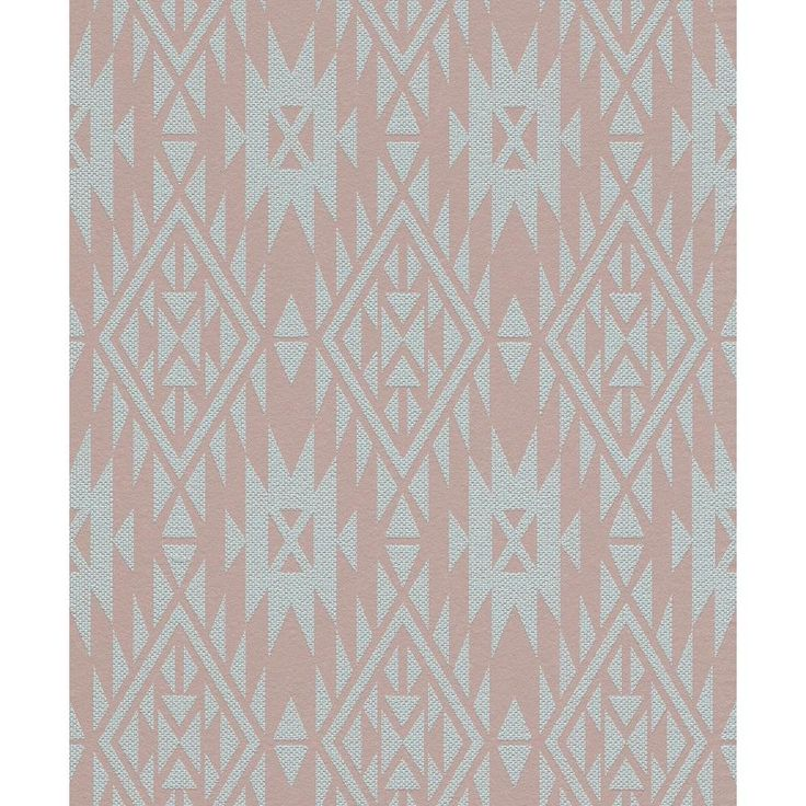 Washington Wallcoverings 56 sq. ft. Brown and Teal Southwestern Print Wallpaper-714975 - The Home Depot
