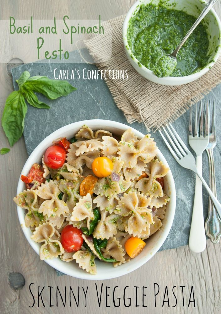 ... Pesto, Pesto Pasta Recipes, Veggies Mail, Skinny Veggies, Basil