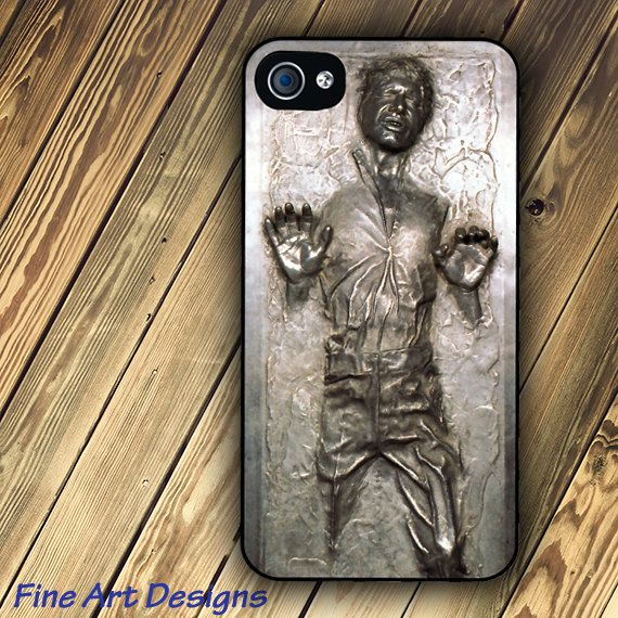 Star Wars Han Solo Frozen in Carbonite iPhone 4 by FineArtDesigns. $16.95, via Etsy.