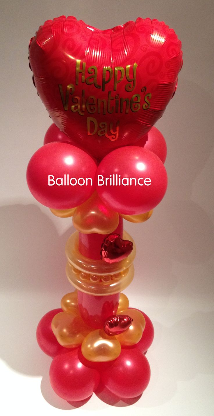 10 best images about valentine 39 s day on pinterest for Balloon decoration for valentines day