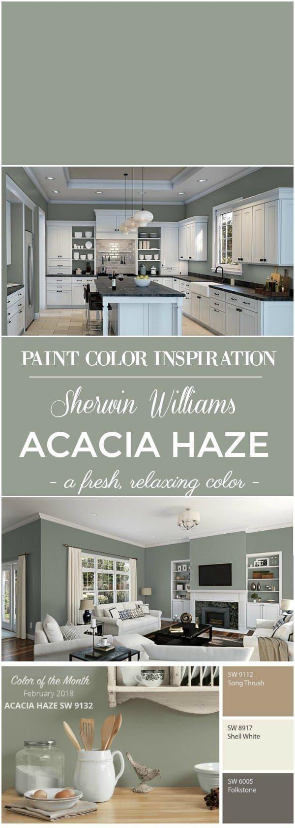 Sherwin Williams Acacia Haze Paint Color Setting For Four Paint Colors For Home Paint Colors For Living Room Room Paint Colors Room paint color inspiration