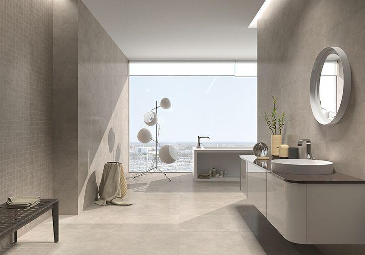 Rvto wall rvtm style taupe 30 x 60 malla style taupe 30 x 30 5 x 5 pvto floor sol - Piastrelle bagno pamesa ...