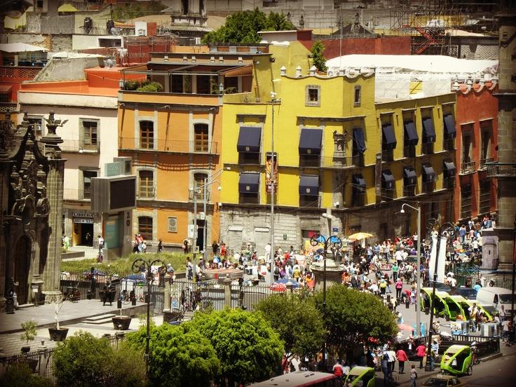 Corner of El Zocalo ~ Mexico City  by Krystal Williams~Landeros
