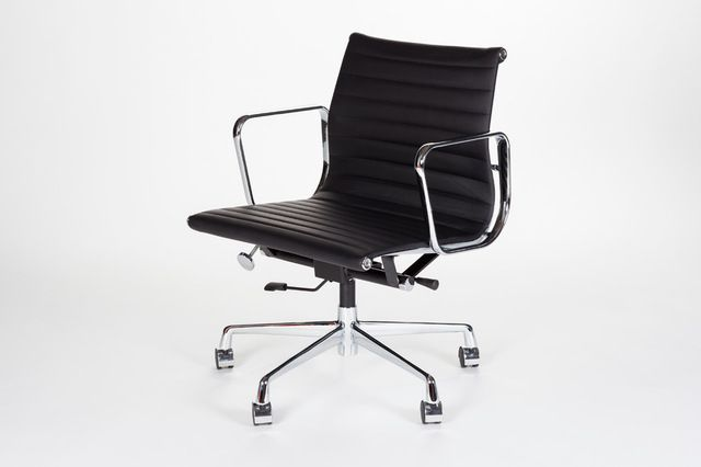 eames style aluminum group office chairs black executive high back
