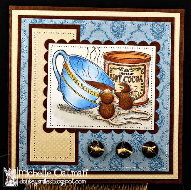 house mouse cards | for my card i started with the dark brown card stock same i used for ...