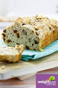 Banana, Fig & Walnut Bread. #HealthyRecipes #DietRecipes #WeightLossRecipes weightloss.com.au