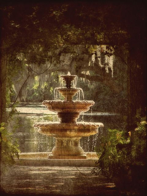 Fountain in Arlie Gardens, Wilmington, NC. Put this on your list of places to see. www.SeaCoastRealty.com #arliegardens #wilmingtonnc #fountain