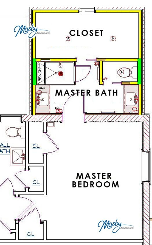 87 best images about house plans on pinterest house for Master bath and closet plans