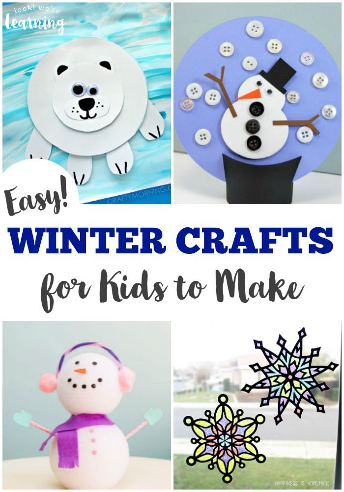These easy kid crafts for winter are a perfect way to pass a cold winter's day!