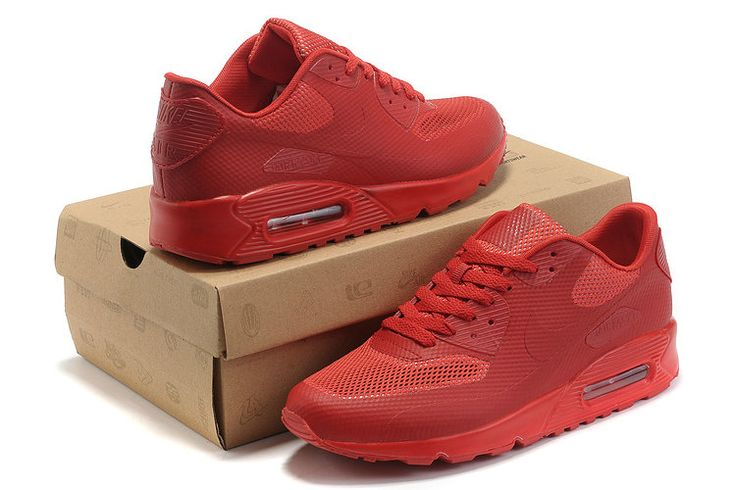Nike Air Max 90 Hyperfuse Vrouwen Alle Rood