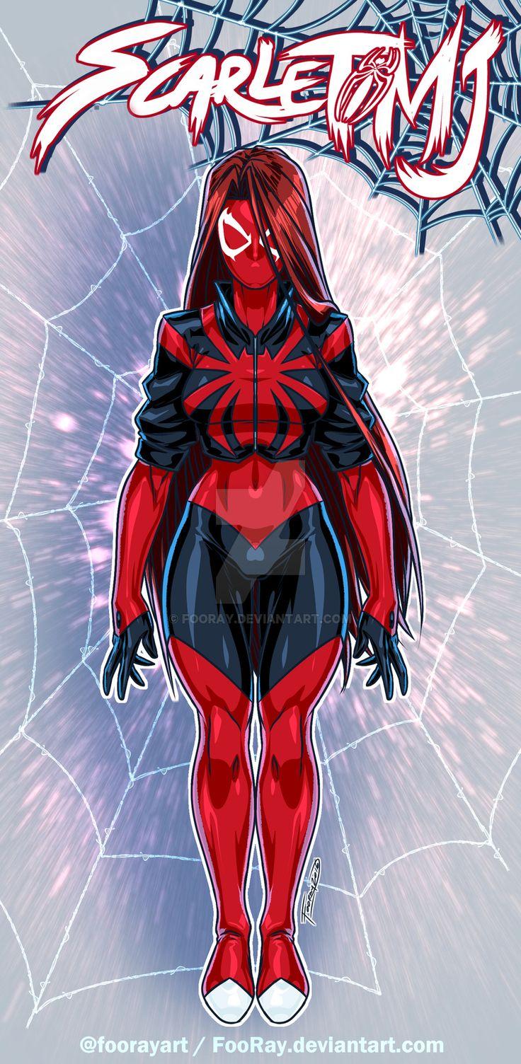 Scarlet Spider MJ: Design by FooRay.deviantart.com on @DeviantArt