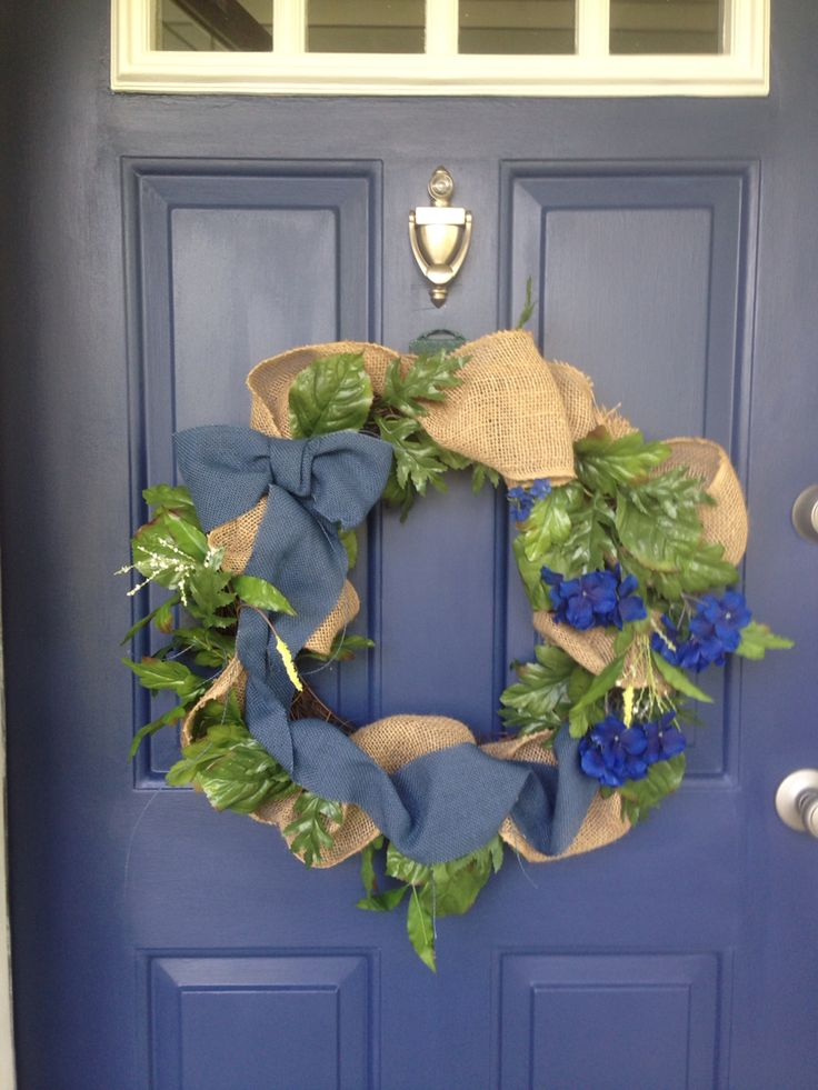 Diy Painted The Front Door Sherwin Williams Indigo Batik