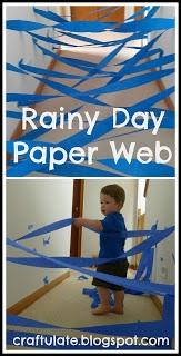 Craftulate: Rainy Day Crepe Paper Web or Tunnel