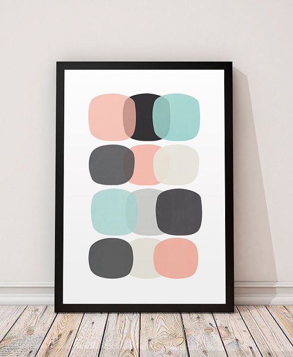 Abstract watercolor, Watercolor print, Abstract print, Modern poster, Mid century modern, Home decor, Wall prints, Scandinavian design, 8x11