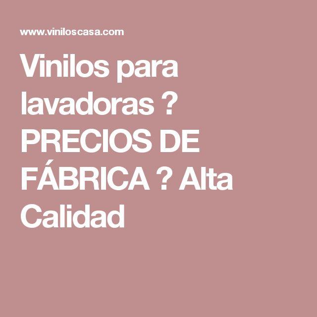 Vinilos para lavadoras ᐅ PRECIOS DE FÁBRICA ᐅ Alta Calidad
