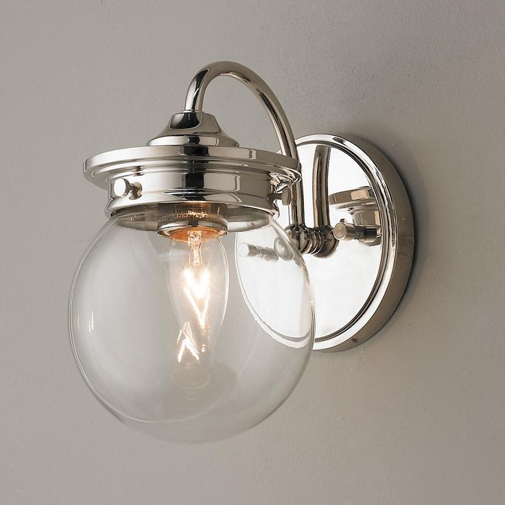 Traditional clear glass globe sconce boys glasses and - Traditional bathroom wall sconces ...