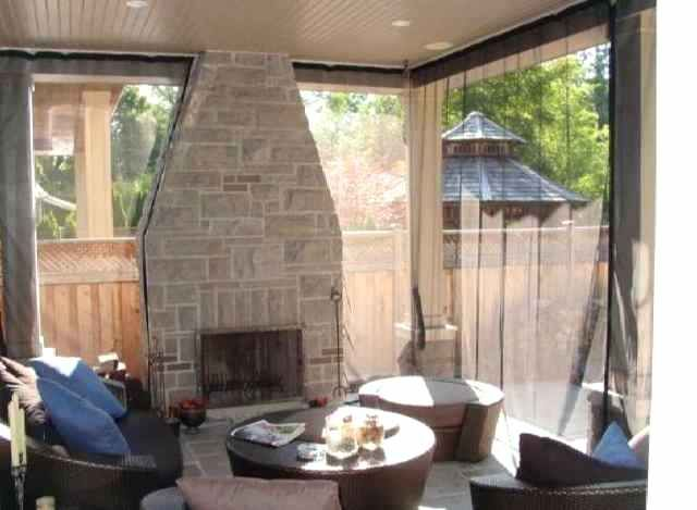 Patio Screen Curtains Same Porch With The Outdoor