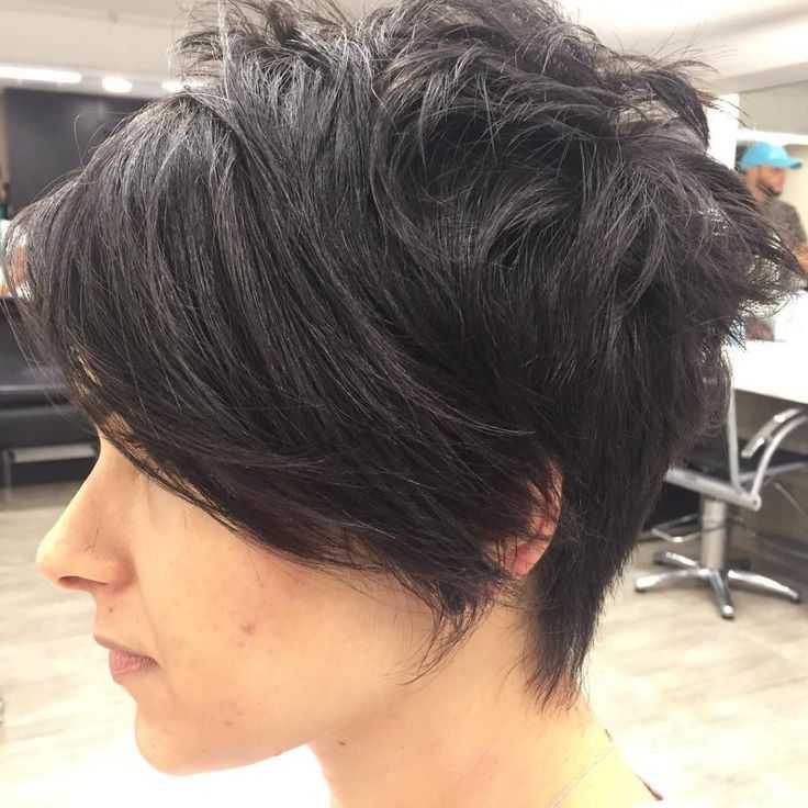 Chopped Pixie With Long Side Bangs