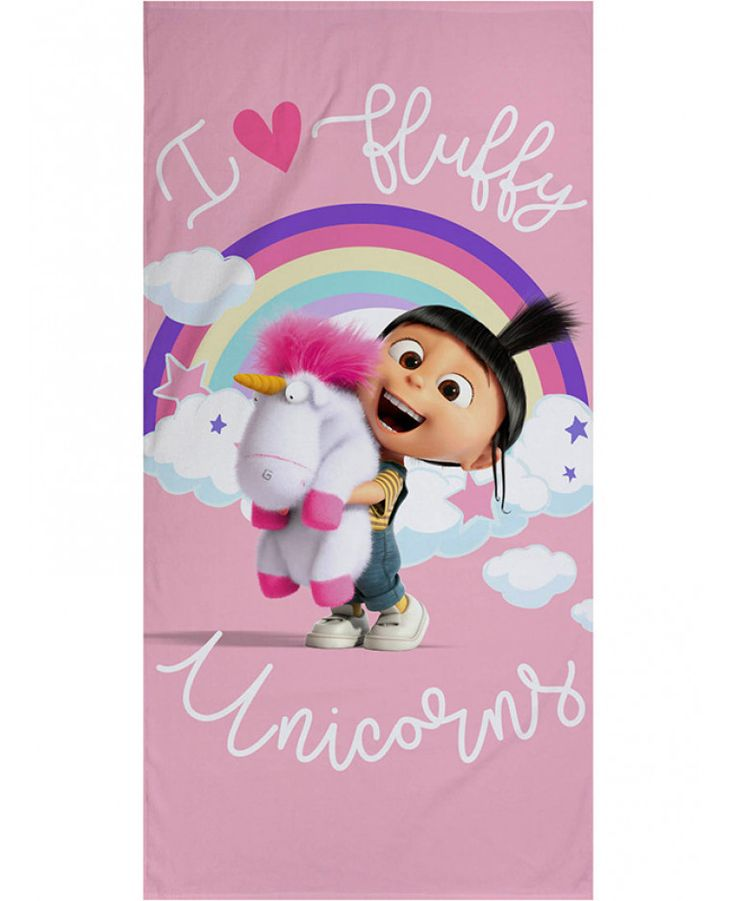 This Despicable Me Daydream Unicorn Towel is ideal for use at the beach, pool or at home and features Agnes and Fluffy Unicorn. Free UK delivery available