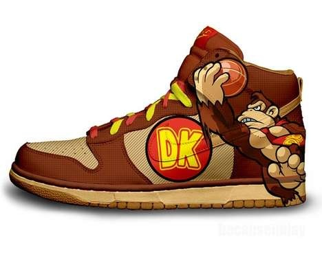 Donkey Kong Sneakers #Shoes #Christmas #DonkeyKong