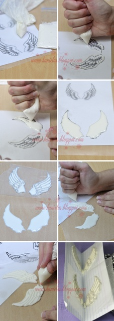 Angel Wings Tutorial for icing ( thought techinque could also be great for other media )