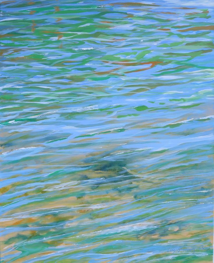 Painting - Morning by the sea - artist Lars Stounberg 2013