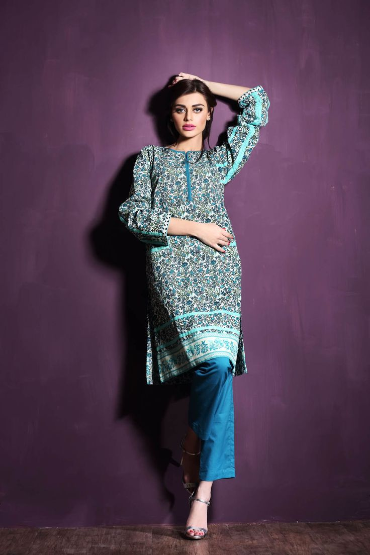 Shop Online Winter collections in UK & USA Buy Green Printed Khaddar Salwar Kameez by Khaadi Winter Collection