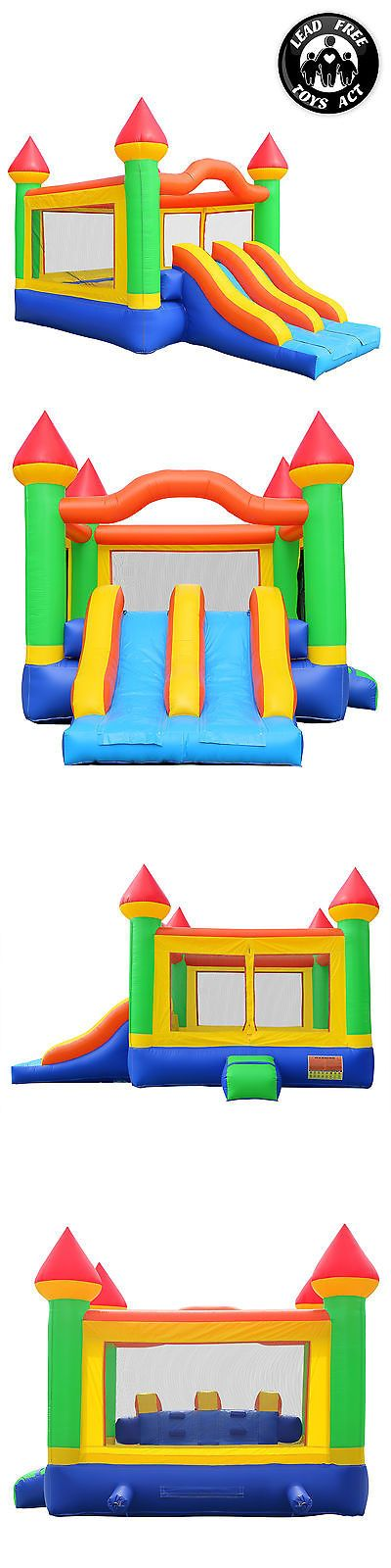 Inflatable Bouncers 145979: Commercial Bounce House 100% Pvc Mega Double Slide Climbing Wall Inflatable Only -> BUY IT NOW ONLY: $759.99 on eBay!