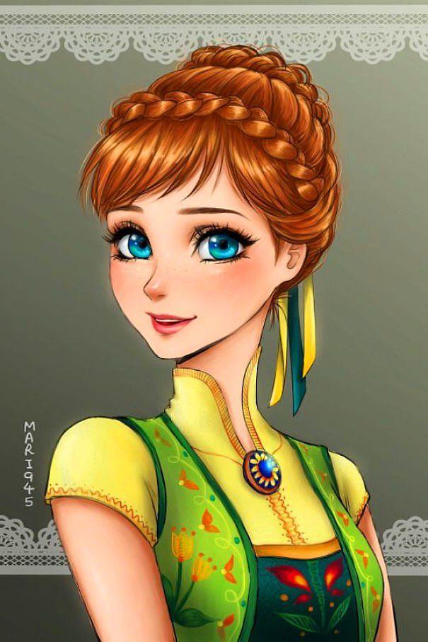 Disney Prenseslerin Anime Karakterlere Dönüştüğü Bu İllüstrasyonlara Bayılacaksınız!