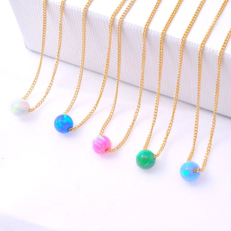 Minimal Opal Necklace, Minimal Gold Necklace, Delicate Necklace, Dainty Necklace, Opal Necklace, Opal Choker, Gold Choker, Minimal Gold Choker, Gold Choker, Simple Gold Necklace, Blur Opals, Blue Opal Necklace *** A dainty a pretty Blue opal necklace. Gift for mom, sister, girlfriend, best friend. Perfect for everyday wear and looks great with other necklaces.  - Gold Filled chain - Opal Bead 5mm diameter - Nickel Free  More of my jewelry you can see here: https://www.etsy.com/...