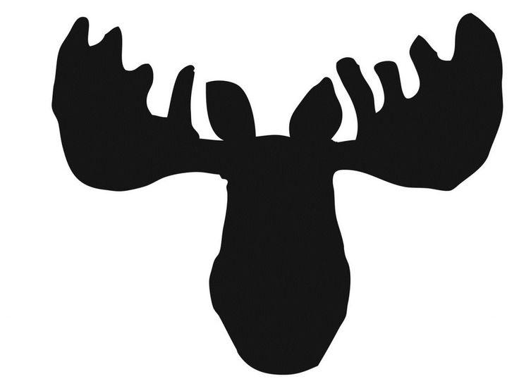Moose Pumpkin Stencil