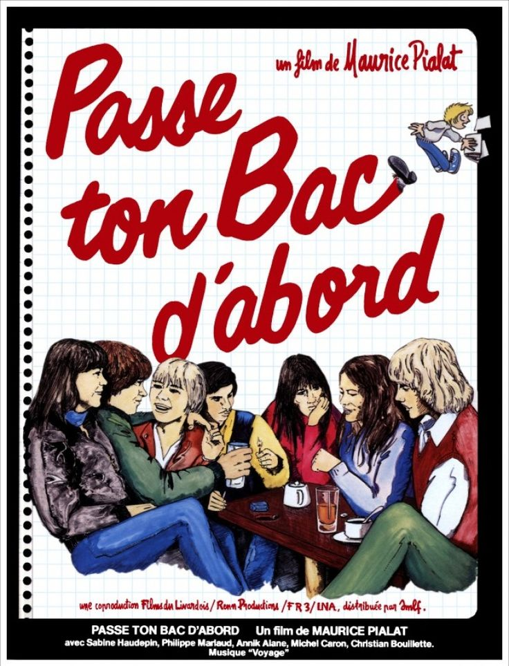 """Passe ton bac d'abord - Maurice Pialat 1979 - DVD08077 -- """"Dans une ville du Nord de la France, des adolescents voient approcher le baccalauréat avec une anxiété tempérée d'indifférence. Pour eux, c'est l'année des conflits avec les adultes & les enseignants, qui considèrent l'examen comme un passeport pour le travail. Passeport pour le chômage pensent plutôt les jeunes, désabusés."""""""