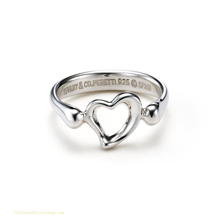 Tiffany & Co Outlet Elsa Peretti Open Heart Ring