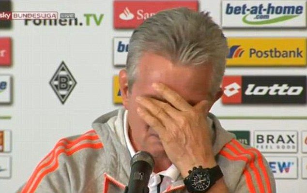 Painful: Jupp Heynckes was sad after his final Bundesliga game in charge of Munich