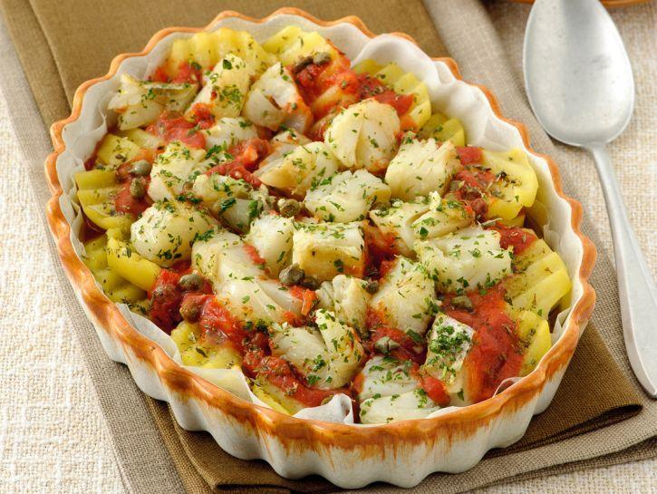 Teglia di Baccalà e Patate alla Pizzaiola - Donna Moderna