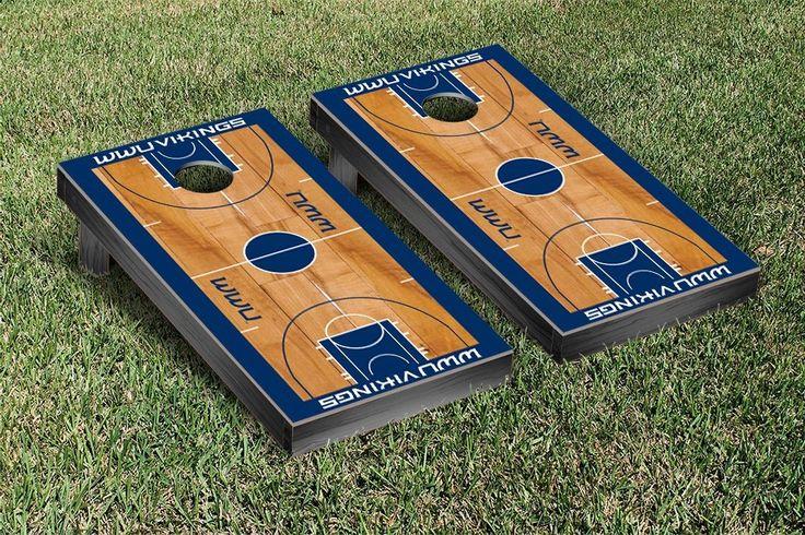 Western Washington University Vikings Basketball Court Cornhole Game Set