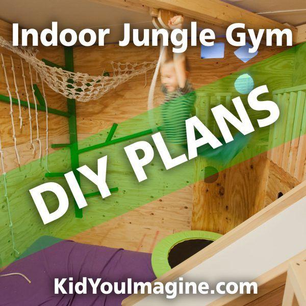 Plans now available! 8'x8' Indoor Jungle Gym Plans, Jungle Gym Ideas