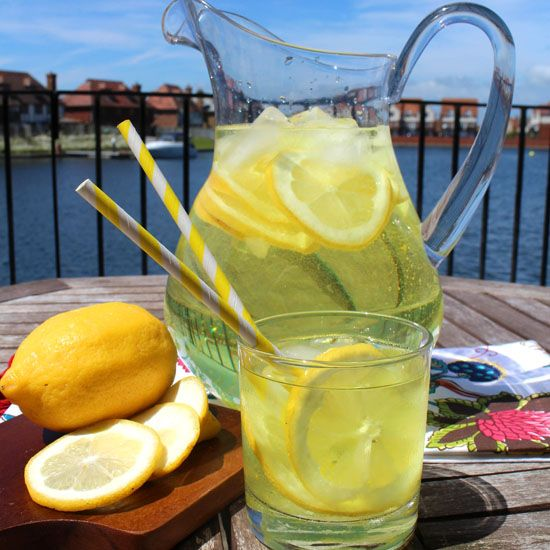 This lemonade is definitely not for kids! This recipe for hard lemonade (aka - spiked lemonade) is a sure party-pleaser!