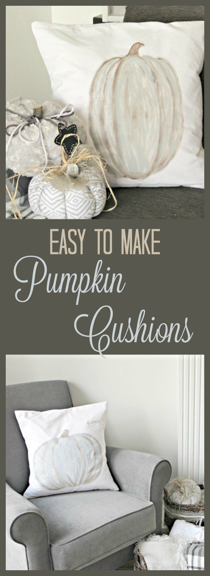DIY Painted Pumpkin Cushions