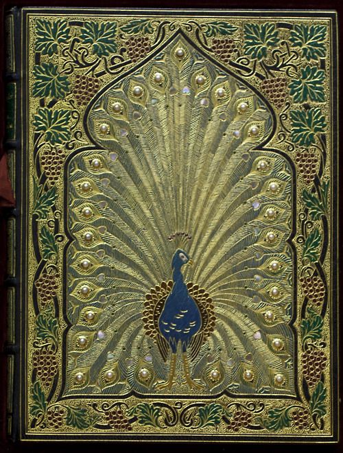 Rubáiyát of Omar Khayyám Sangorski and Sutcliffe, this bookbinding masterpiece is one of a number the pair produced in the early-twentieth century.  Like many similar examples, Rauner's copy was designed for the Rubáiyát of Omar Khayyám.  3rd edition (London: Bernard Quaritch, 1872).