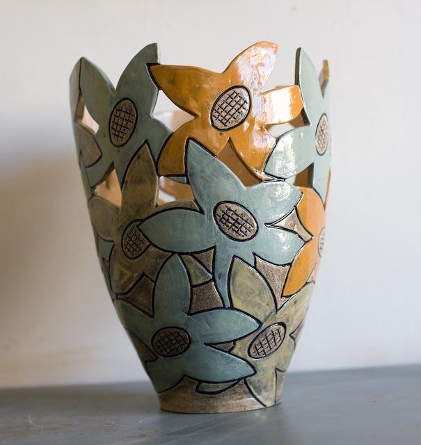 Autumn Flowers Vase